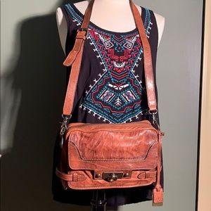 Rare FRYE messenger bag